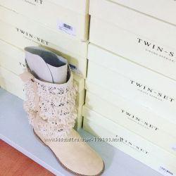 Итальянская кожання обувь оптом twin set