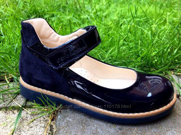 10 моделей, Кожаные ортопедические туфли FS Collection Чёрные и синие, дево