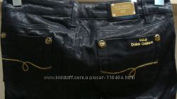 Фирменные блестящие джинсы