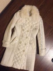 Стеганное деми пальто S