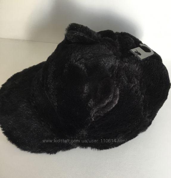 Новая тёплая кепка с ушками - имитация меха