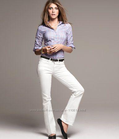 Новые белые джинсы- размер XXL- 34 джинсовый
