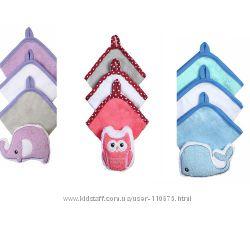 Набор 3 моющих рукавиц с губкой, BabyOno, 149