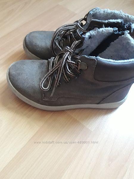 Замшевые  кеды-ботинки деми 28р