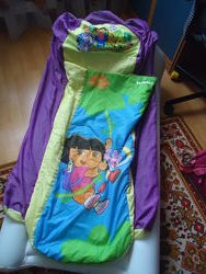 Надувной матрас кровать с постелью