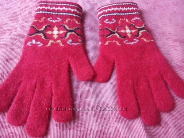 Перчатки Ангора. Красные.