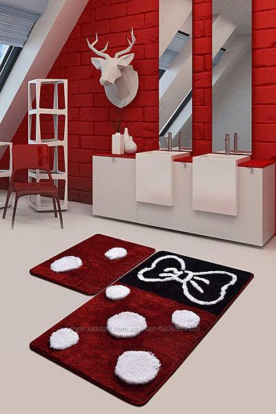 Chilai Home Коврик для ванной комнаты Mina kirmizi 50x60, 60x100, Турция