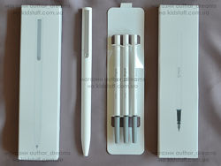 Гелевая ручка Xiaomi Mijia Mi Pen MJZXB01XM плюс 3 стержня. Хит на подарок