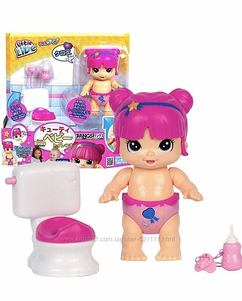 Little live Bizzy Bubs season baby playset - Clever Chloe - Potty time ориг