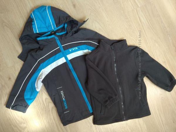 Супер куртка 3в1 ветровка и толстовка флиска Palomino