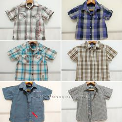 Фирменная рубашка с коротким рукавом Next H&M George на 1-5 лет
