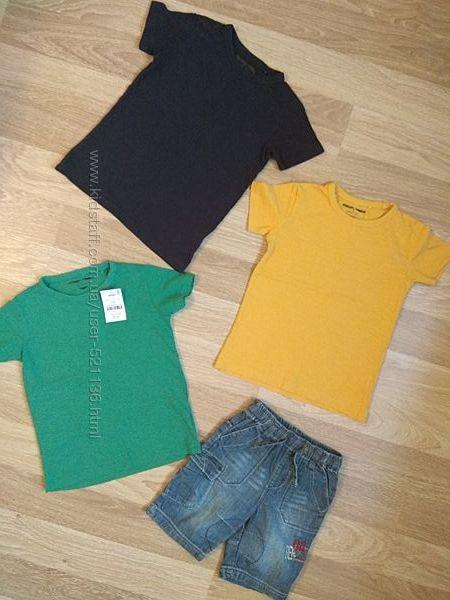 Летний комплект набор вещей футболка шорты Next Некст на 3-5 лет