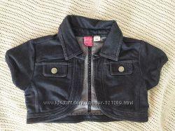 Стильное балеро под джинс для девочки на 2-3 года
