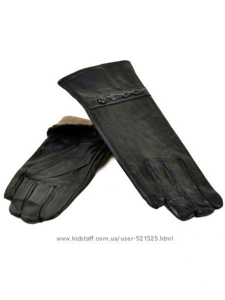 Женские перчатки кашемир, кожа, замша
