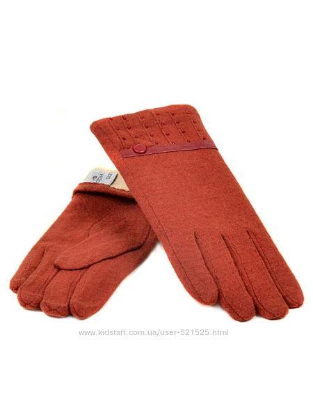 Женские перчатки кашемир, коричневые, синие, зеленые
