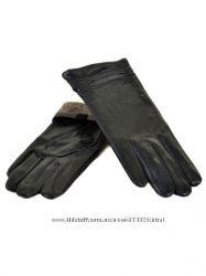 Женские перчатки, кожа