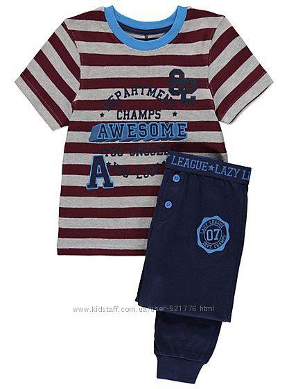 Теплые пижамы-домашние костюмы George мальчикам, 4-5 лет, 9-10лет, 11-12лет