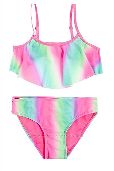 Раздельные радужные купальники для девочек Cool Club, рост 104