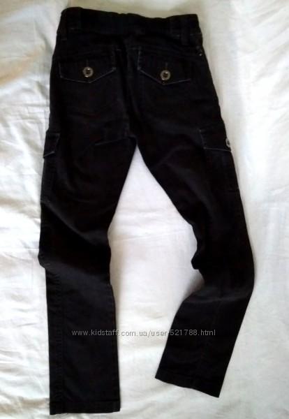 Джинсы черные на девочку р. 140slim фирменные S. Oliver штаны брюки