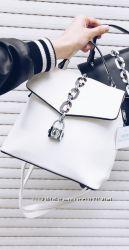 Белый рюкзак-сумка