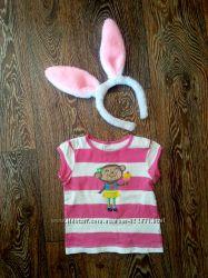 Классная футболочка девочке на 9-12 месяцев