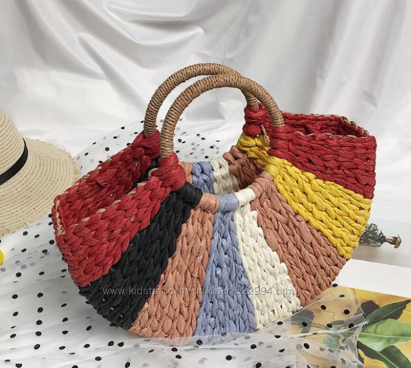 Плетеная цветная сумка
