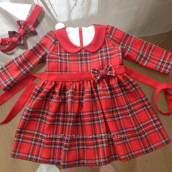 Сукня для дівчинки в червону клітинку