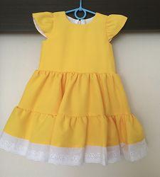 Платье для девочки , жёлтое , р. 98