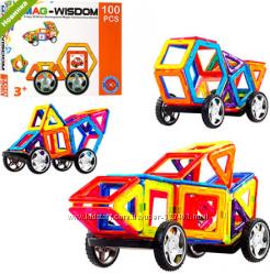 Магнитный конструктор MAG-WISDOM Транспорт KB04117 100 деталей