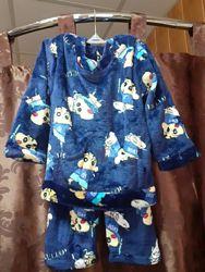 Пижамы велюровые детские