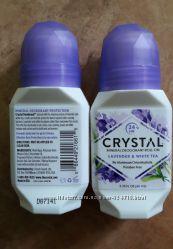 Натуральный дезодорант Crystal, шариковый, Лаванда и Белый чай 66 мл