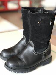 Продам шкіряні зимові чоботи на цегейці 29 р. для дівчинки