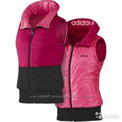 Двухсторонняя жилетка- безрукавка Adidas, размер L, 48-50. Новая. Оригинал