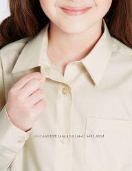 Бежевая школьная рубашка MARKS&SPENSER на девочку от 6 до 9 лет