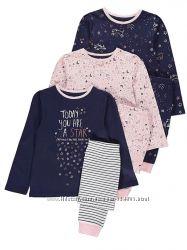 Пижамы на девочек спринтом Звездочек на 7-8 лет рост 122-128 см