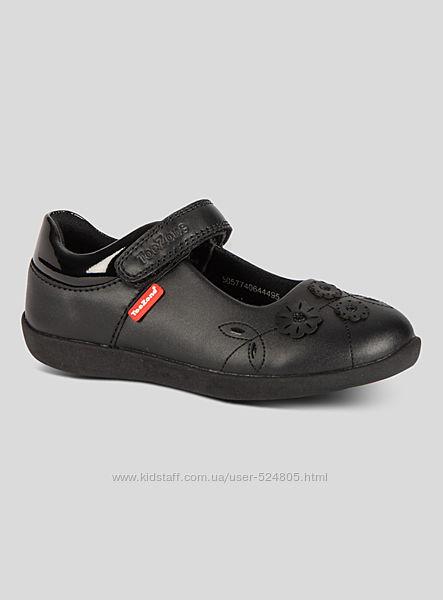 Черные  кожаные туфли TOEZONE р.31-32, стелька19.5-20 cм