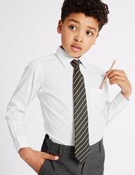 Белая школьная рубашка marks&spenser 10-11-12-13 лет рост 146-152-158 см