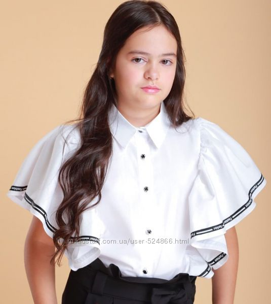 Блузка школьная короткий рукав