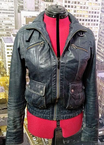 Кожаная куртка Zara, М