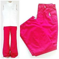 Спортивные штаны из плащевки на флисе, 48-50 размер