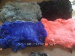 Шкурки  кроликов цветные