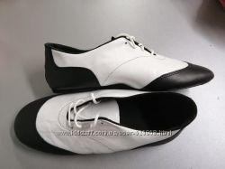 Джазовки кожаные, комбинированые черно-белые