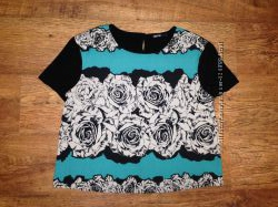 Стильная блуза с коротким рукавом Beloved, р-р l, идеальное состояние