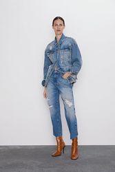 Крутые рваные джинсы Zara 32,34,36 р