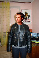Куртка кожаная байкерская