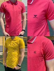 Мужская трикотажная поло футболка, Армани, Кельвин Кляйн Турция