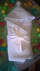 Теплый конверт-одеяло для новорожденного