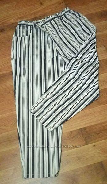 Стильные полосатые джинсы мом большого размера