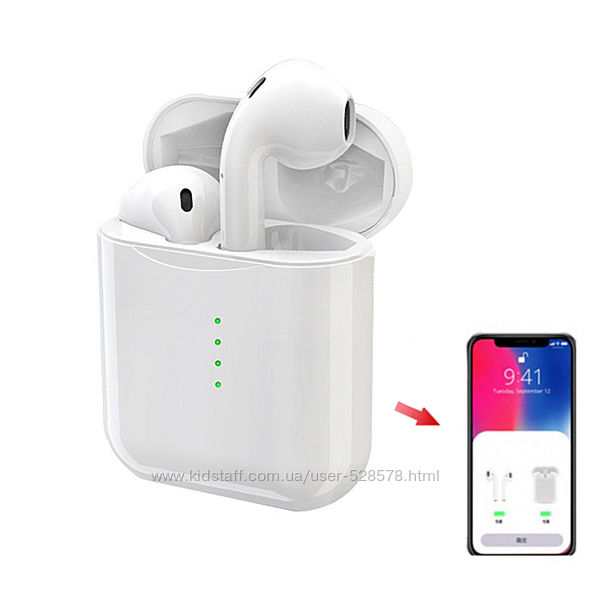 Bluetooth наушники-гарнитура беспроводные TWS TG920 аналог Airpods pop-up