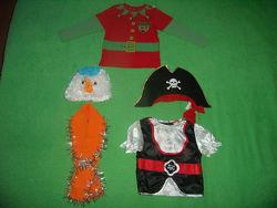 Костюмы снеговик, пират, эльф на 3-6 лет